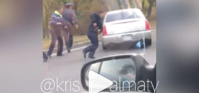 «Шұғыл!». Алматыда «дерзкий» біреу полициядан қашып кетті (видео)