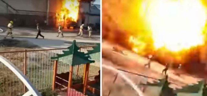 Түркістан қаласында жарылыс болды (видео)